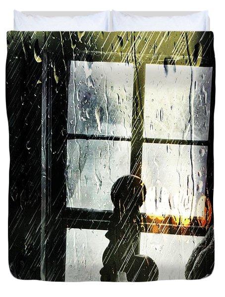 Rain In My Heart Duvet Cover