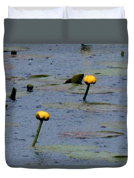 Rain In The Swamp Duvet Cover