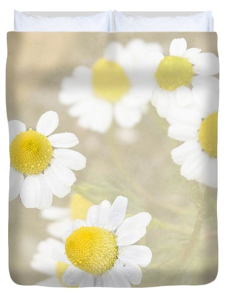 Rain-kissed Chamomile Duvet Cover