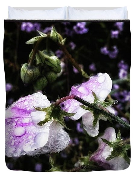 Duvet Cover featuring the photograph Rain Kissed Petals. This Flower Art by Mr Photojimsf