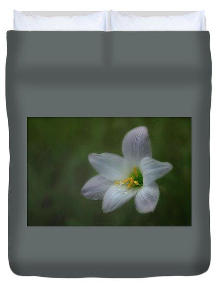 Rain Lily Duvet Cover