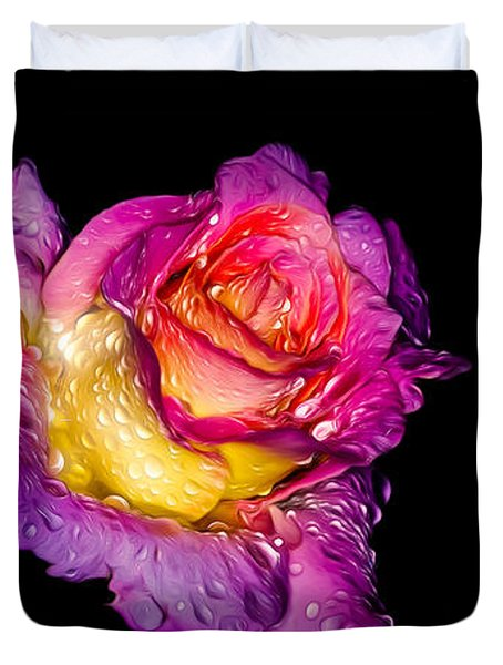 Rain-melted Rose Duvet Cover