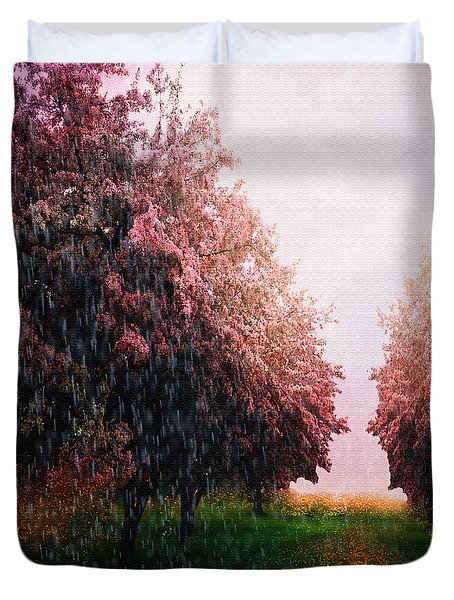 Rain On Imagination Duvet Cover