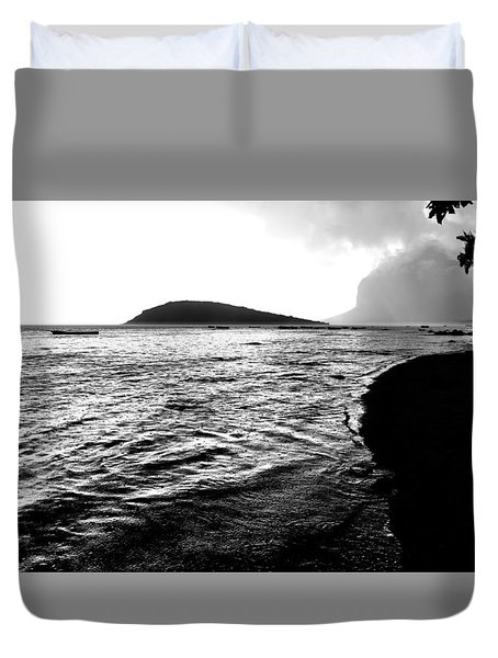 Rain On Sea And Shore Duvet Cover