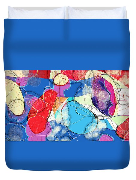 Rain On Stained Glass Window Duvet Cover