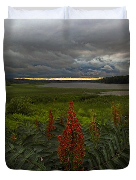 Rain Over The Mohawk Duvet Cover