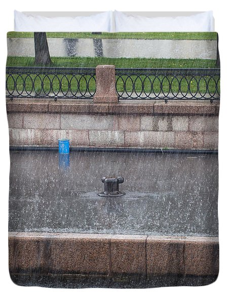 Duvet Cover featuring the photograph Rain, Rain, Go Away by Clare Bambers