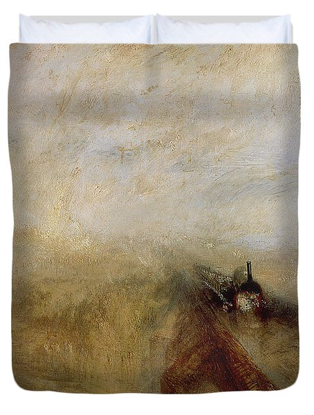 Rain Steam And Speed Duvet Cover by Joseph Mallord William Turner