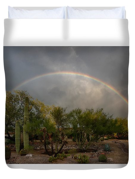 Rain Then Rainbows Duvet Cover