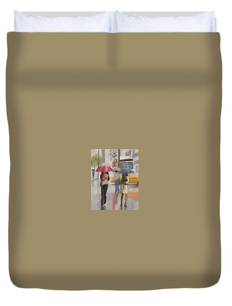Rain Walk Duvet Cover
