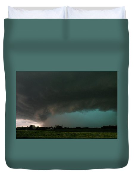 Rain-wrapped Tornado Duvet Cover