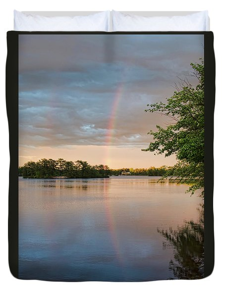 Rainbow After The Storm Duvet Cover