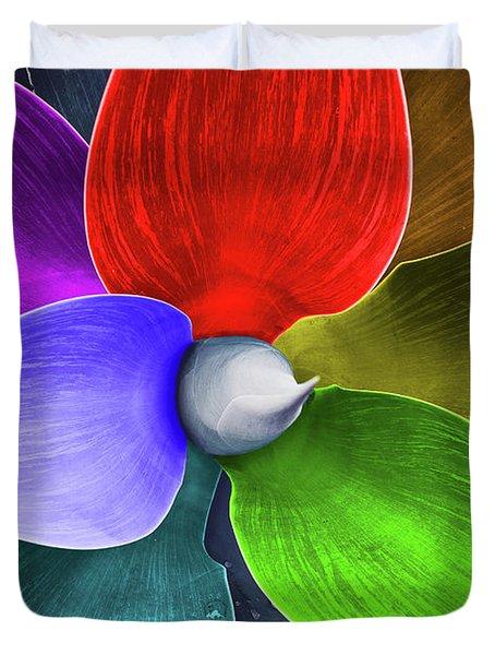 Rainbow Agave Duvet Cover