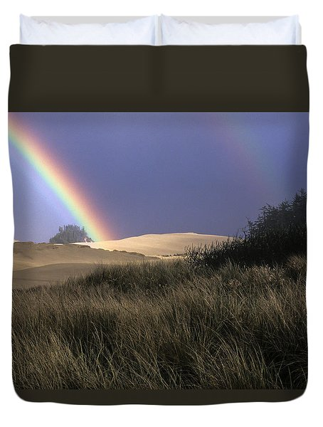 Rainbow And Dunes Duvet Cover
