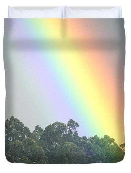 Rainbow And Misty Skies Duvet Cover by Erik Aeder - Printscapes