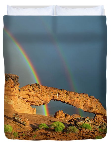 Rainbow Arch Duvet Cover