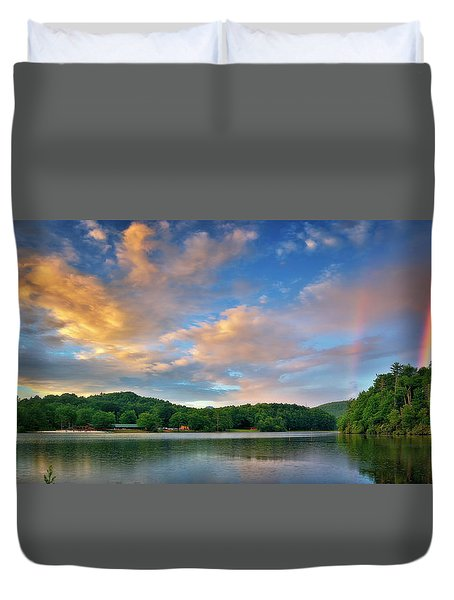 Rainbow At Linville Land Harbor Duvet Cover