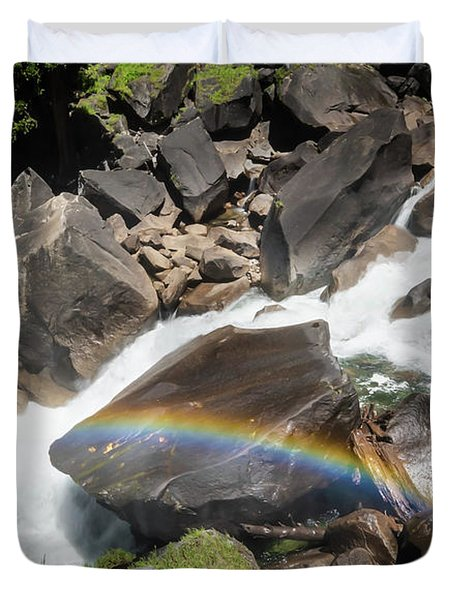 Rainbow At Vernal Falls- Duvet Cover