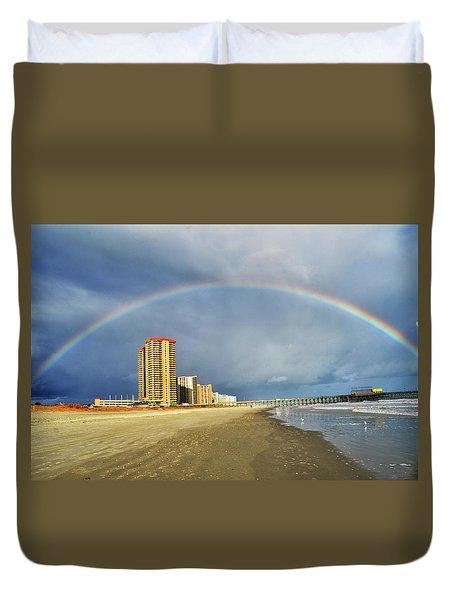 Rainbow Beach Duvet Cover by Kelly Reber