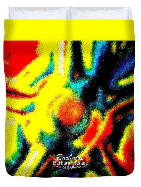 Duvet Cover featuring the photograph Rainbow Bliss #051347 by Barbara Tristan