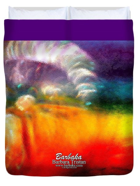 Duvet Cover featuring the photograph Rainbow Bliss #052833_ii by Barbara Tristan