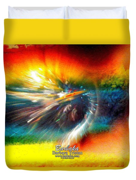 Duvet Cover featuring the photograph Rainbow Bliss #053329 by Barbara Tristan