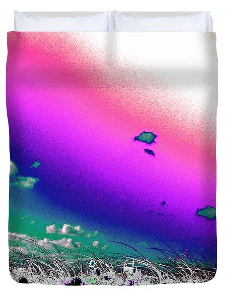 Rainbow Borealis Duvet Cover