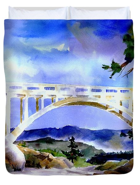 Rainbow Bridge Above Donnerlk#2 Duvet Cover