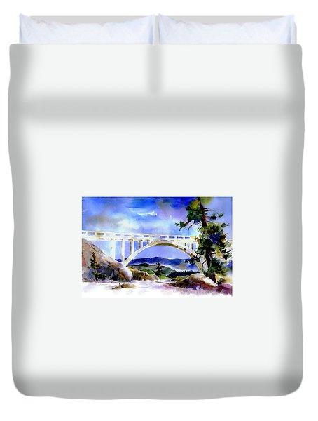 Rainbow Bridge Above Donnerlk#2 Duvet Cover