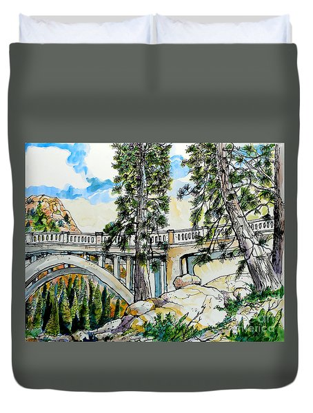 Rainbow Bridge At Donner Summit Duvet Cover by Terry Banderas