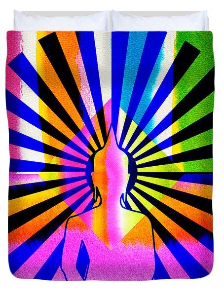 Rainbow Buddha Duvet Cover