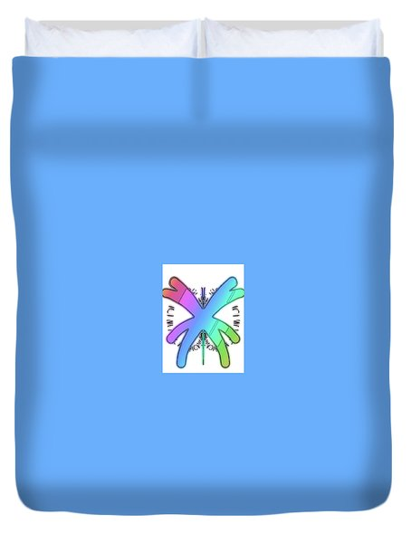 Rainbow Bug Duvet Cover