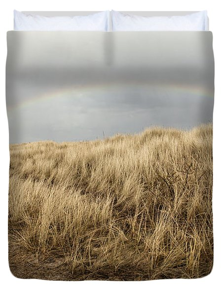Rainbow By The Seaside Duvet Cover by Mike Santis