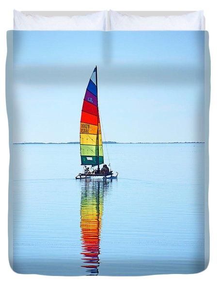 Rainbow Catamaran Duvet Cover