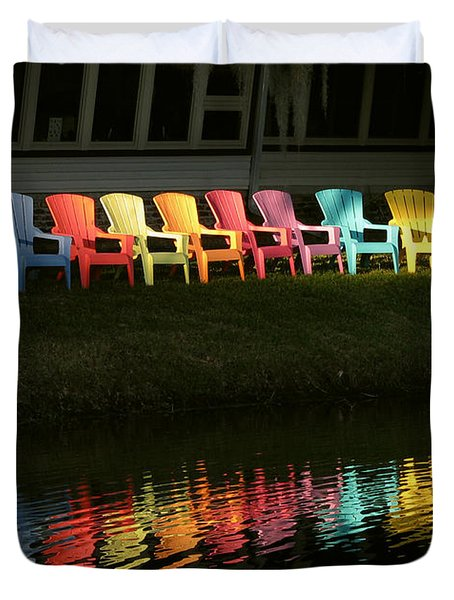 Rainbow Chairs  Duvet Cover