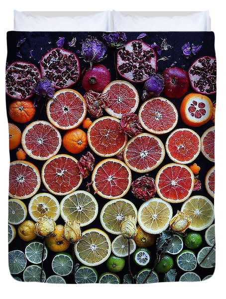 Rainbow Citrus Etc Duvet Cover