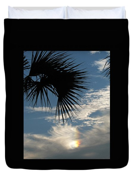 Rainbow Cloud Duvet Cover by Peg Urban