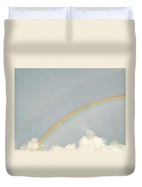 Rainbow Clouds Duvet Cover
