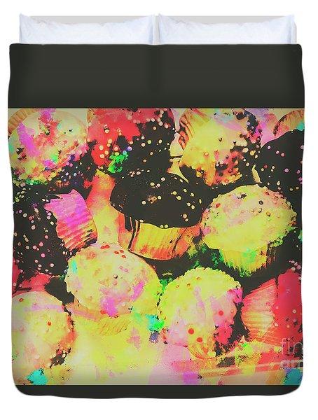 Rainbow Color Cupcakes Duvet Cover