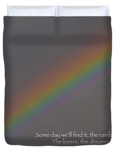 Rainbow Connection Duvet Cover by Julia Wilcox