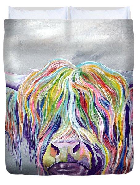 Rainbow Coo Duvet Cover