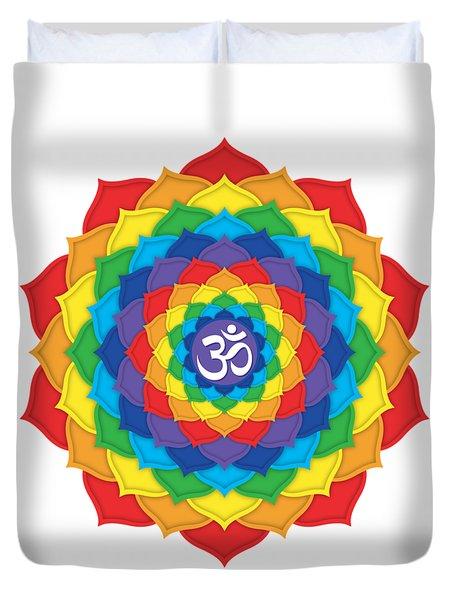 Rainbow - Crown Chakra  Duvet Cover by David Weingaertner