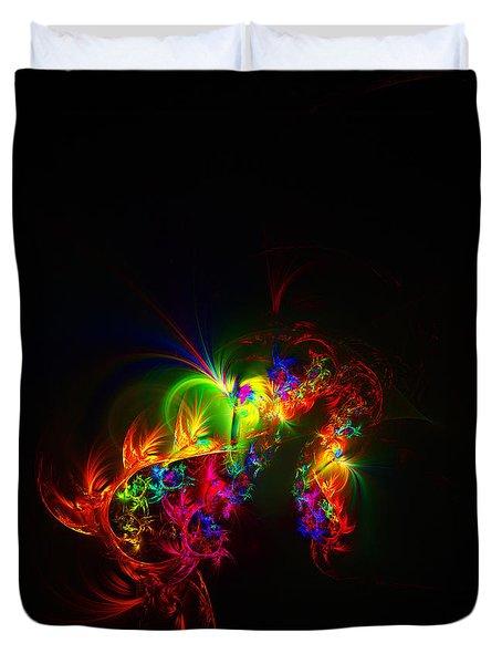 Rainbow Curls Duvet Cover