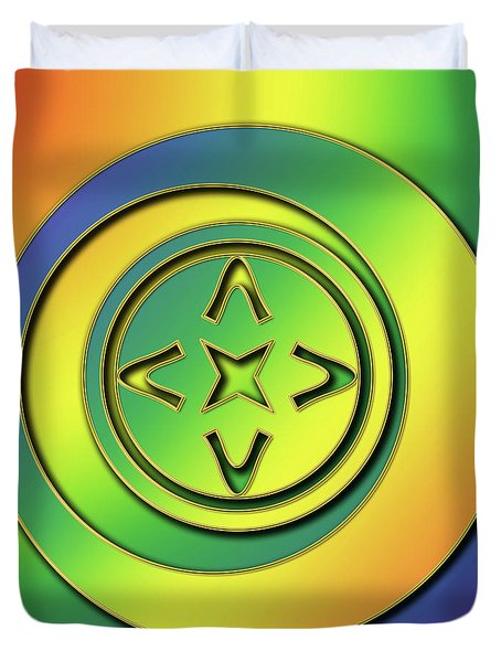Duvet Cover featuring the digital art Rainbow Design 2 by Chuck Staley