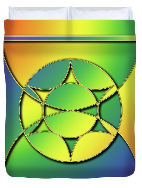 Duvet Cover featuring the digital art Rainbow Design 3 by Chuck Staley