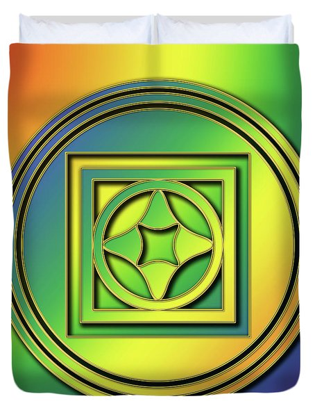 Duvet Cover featuring the digital art Rainbow Design 4 by Chuck Staley