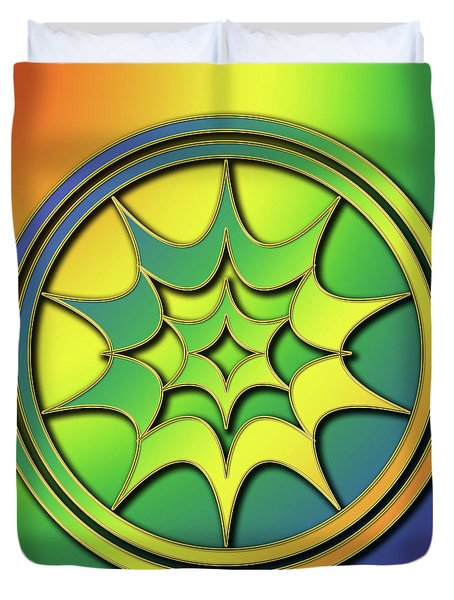 Duvet Cover featuring the digital art Rainbow Design 5 by Chuck Staley