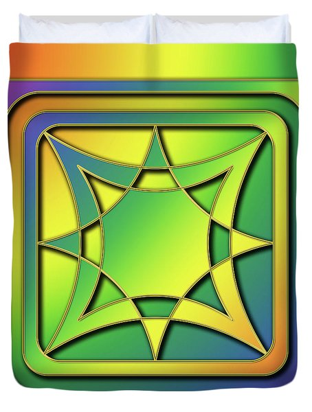 Duvet Cover featuring the digital art Rainbow Design 6 by Chuck Staley