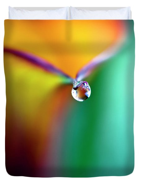 Rainbow Drop Duvet Cover by Crystal Wightman