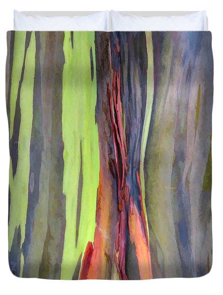 Rainbow Eucalyptus 13 Duvet Cover by Dawn Eshelman